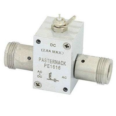 10MHz至6GHz N偏置三通额定至2500 mA和100伏直流电。